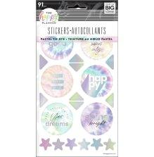 Me & My Big Ideas Happy Planner Stickers 5 Sheets - Pastel Tie Dye