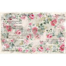 Prima Re-Design Decoupage Tissue Paper 19X30 2/Pkg - Floral Wallpaper