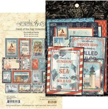 Graphic 45 Ephemera & Journaling Cards - Catch Of The Day