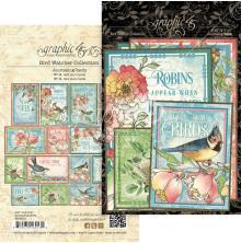 Graphic 45 Ephemera & Journaling Cards - Bird Watcher