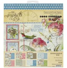 Graphic 45 Double-Sided Paper Pad 8X8 - Bird Watcher