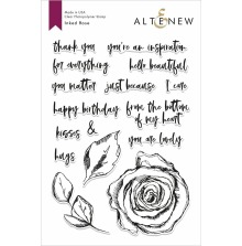 Altenew Clear Stamps 6X8 - Inked Rose