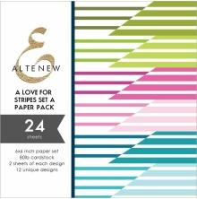 Altenew A Love for Stripes 6x6 Paper Pack - Set A