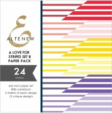 Altenew A Love for Stripes 6x6 Paper Pack - Set B