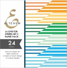 Altenew A Love for Stripes 6x6 Paper Pack - Set C
