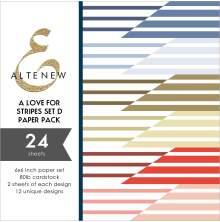Altenew A Love for Stripes 6X6 Paper Pack - Set D