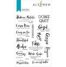 Altenew Clear Stamps 6X8 - Carpe Diem