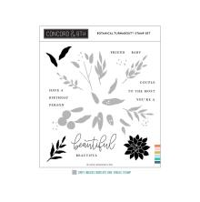 Concord & 9th Clear Stamps 6X6 - Botanical Turnabout