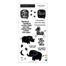 Concord & 9th Clear Stamps 4X8 - Safari Friends