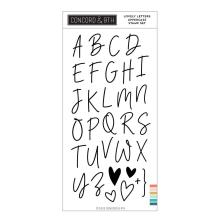Concord & 9th Clear Stamps 4X8 - Lovely Letters Uppercase