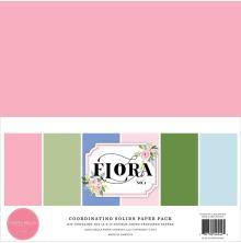 Carta Bella Solid Cardstock 12X12 6/Pkg - Flora No. 4