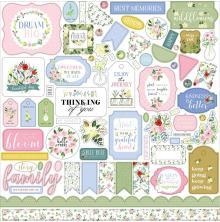 Carta Bella Cardstock Stickers 12X12 - Flora No. 4