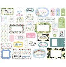 Carta Bella Flora No. 4 Cardstock Die-Cuts 33/Pkg - Frames & Tags