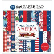 Carta Bella Double-Sided Paper Pad 6X6 - God Bless America