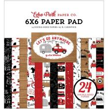 Echo Park Double-Sided Paper Pad 6X6 - Lets Go Anywhere