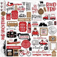 Echo Park Cardstock Stickers 12X12 - Lets Go Anywhere