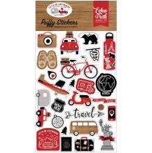 Echo Park Puffy Stickers - Lets Go Anywhere