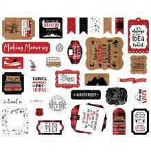 Echo Park Lets Go Anywhere Cardstock Die-Cuts 33/Pkg - Ephemera