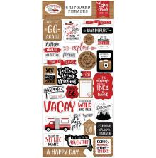 Echo Park Lets Go Anywhere Chipboard 6X13 - Phrases