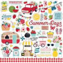 Echo Park Cardstock Stickers 12X12 - A Slice Of Summer
