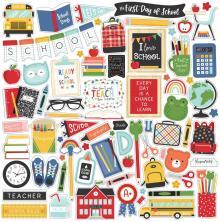 Echo Park Cardstock Stickers 12X12 - I Love School