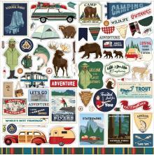 Carta Bella Cardstock Stickers 12X12 - Outdoor Adventures