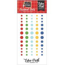 Echo Park Adhesive Enamel Dots 60/Pkg - I Love School