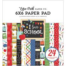 Echo Park Double-Sided Paper Pad 6X6 - I Love School