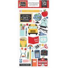 Echo Park I Love School Chipboard 6X13 - Accents