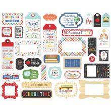Echo Park I Love School Cardstock Die-Cuts 33/Pkg - Frames & Tags