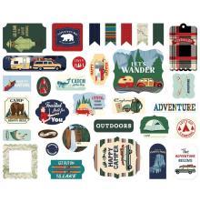Carta Bella Outdoor Adventures Cardstock Die-Cuts 33/Pkg - Ephemera