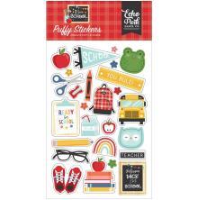 Echo Park Puffy Stickers - I Love School