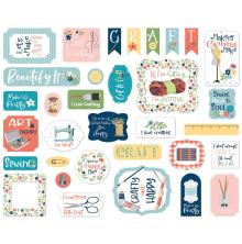 Carta Bella Craft & Create Cardstock Die-Cuts 33/Pkg - Ephemera