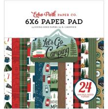 Echo Park Double-Sided Paper Pad 6X6 - Lets Go Camping
