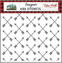 Echo Park Lets Go Camping Stencil 6X6 - Shooting Arrows