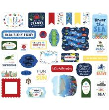 Echo Park Under Sea Adventures Cardstock Die-Cuts 33/Pkg - Ephemera