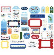 Echo Park Under Sea Adventures Cardstock Die-Cuts 33/Pkg - Frame & Tags