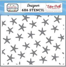 Echo Park Under Sea Adventures Stencil 6X6 - Swimming Starfish