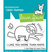 Lawn Fawn Clear Stamps 3X2 - I Like Naps