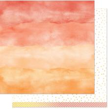 Lawn Fawn Watercolor Wishes Rainbow Paper 12X12 - Carnelian