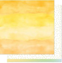 Lawn Fawn Watercolor Wishes Rainbow Paper 12X12 - Citrine
