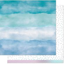 Lawn Fawn Watercolor Wishes Rainbow Paper 12X12 - Larimar