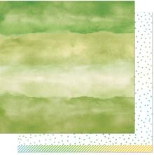 Lawn Fawn Watercolor Wishes Rainbow Paper 12X12 - Emerald