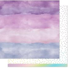 Lawn Fawn Watercolor Wishes Rainbow Paper 12X12 - Amethyst