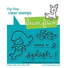 Lawn Fawn Clear Stamps 3X2 - Mermaid For You Flip-Flop