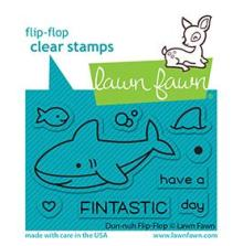 Lawn Fawn Clear Stamps 3X2 - Duh-Nuh Flip-Flop