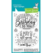 Lawn Fawn Clear Stamps 4X6 - Giant Birthday Messages