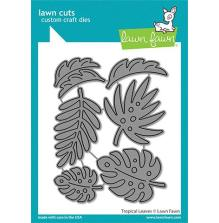Lawn Fawn Dies - Tropical Leaves