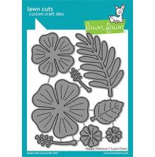 Lawn Fawn Dies - Happy Hibiscus