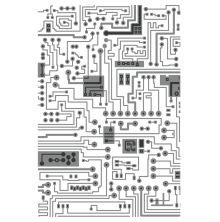 Tim Holtz Sizzix 3-D Texture Fades Embossing Folder - Circuit